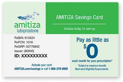 Amitoza Savings Card