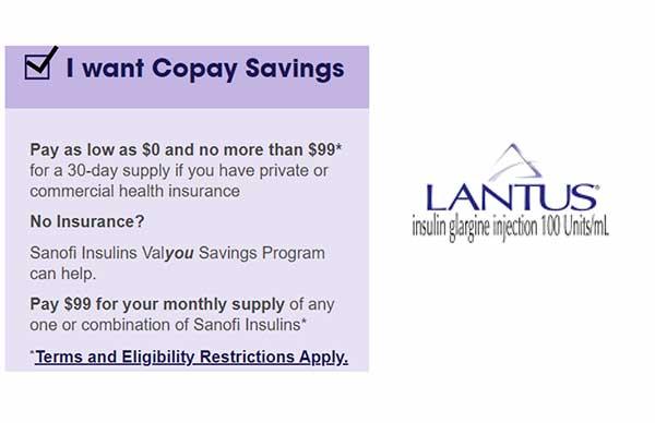 Lantus Savings Card