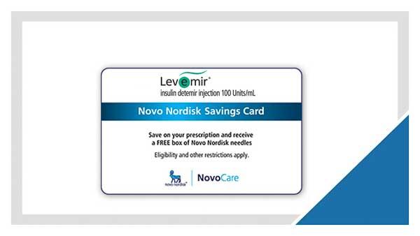 Levimir Savings Card