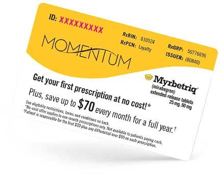 Myrbetriq Savings Card