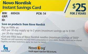 NovoLog Savings Card